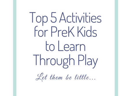 Top 5 Activities for PreK Kids | Danielle Hardesty Photography Supports PreK Education through Play