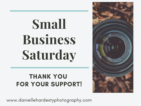 Small Business Saturday 2019 Specials from Danielle Hardesty Photography