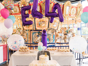 Elk Grove Village Carousel Room 1st Birthday Party/Danielle Hardesty Events