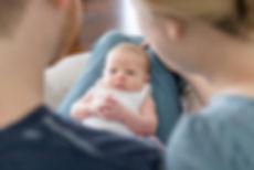 Newborn Girl family of three new baby.jp