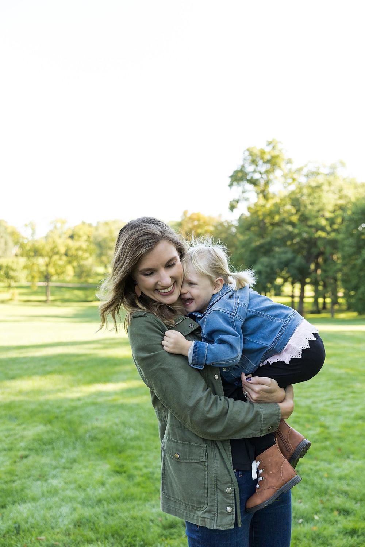 mom and daughter fall photos toddler girl