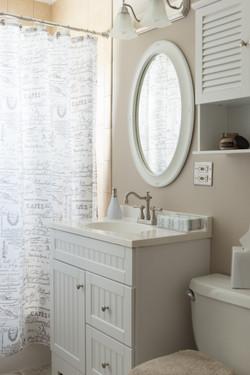 cream bathroom real estate photo