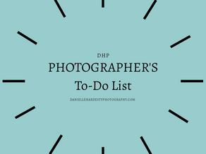 A Photographer's To-Do List