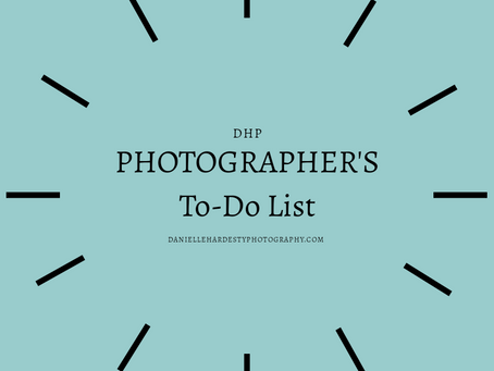A Photographer's To-Do List