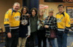 Me and Family at Preds Game
