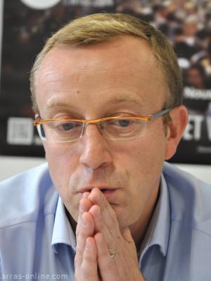 François Desmazière en pleine campagne électorale