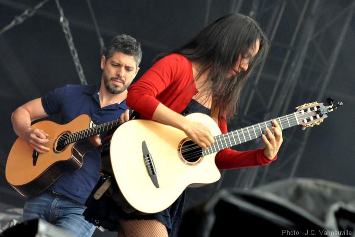 Roberto Y Gabriela au Main Square Festival d'Arras 2014