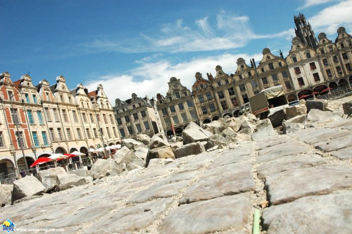 Arras fouilles archéologiques - Sainte Chandelle et Maison Rouge