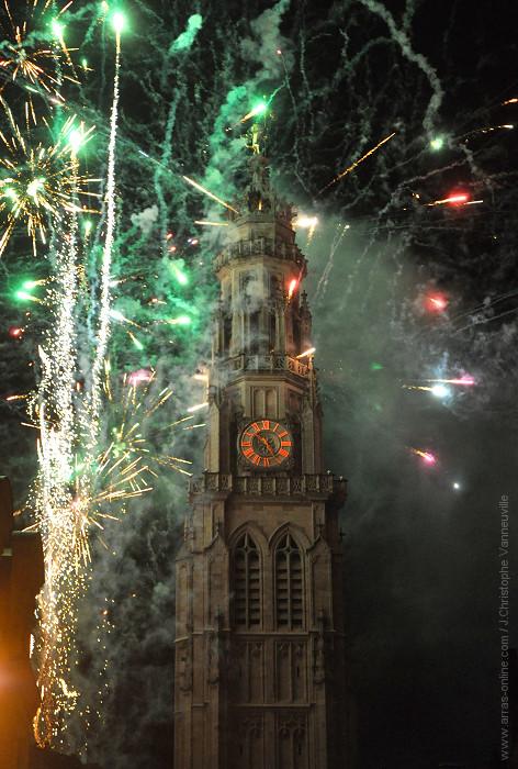 Embrasement Beffroi Arras 2013
