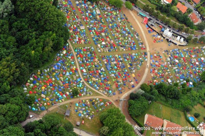 Le camping du Main Square Festival vu du ciel