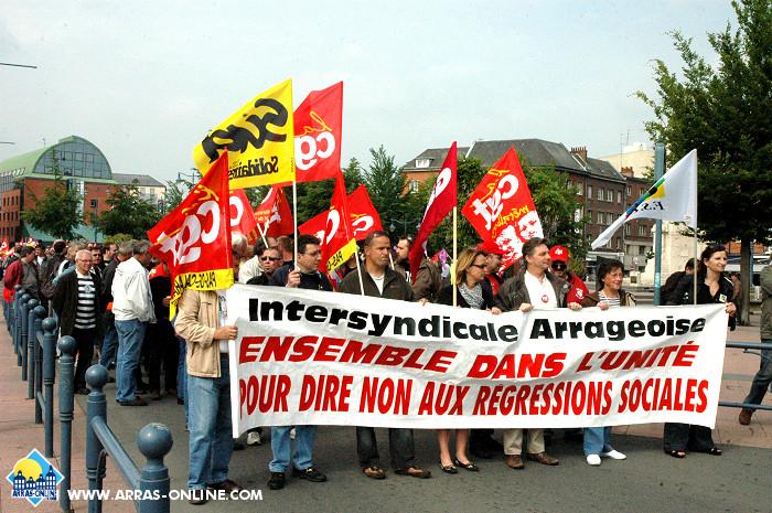 Arras : Grève en demie teinte