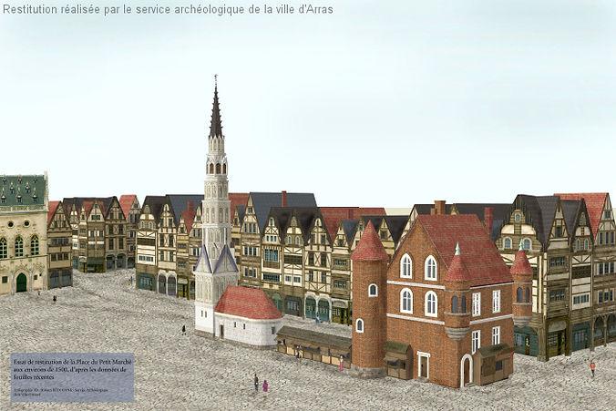 Arras la Place du Petit Marché