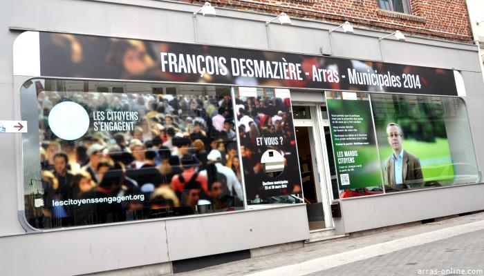 François Desmazière a implanté sa permanence rue des Balances à Arras