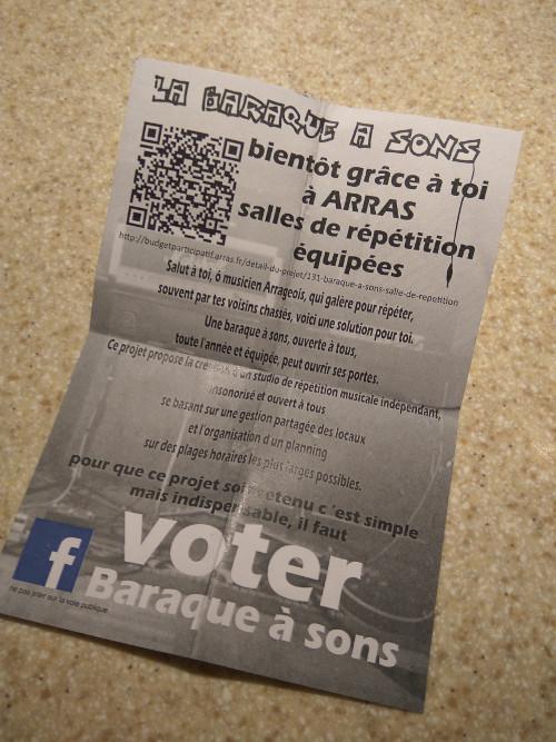 Projet participatif Arras - La baraque à sons