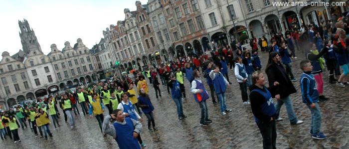 Arras Flashmob du collège Marie Curie