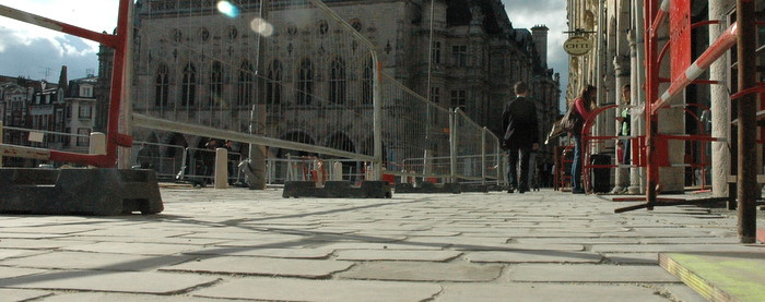 Travaux Place des Héros - Arras