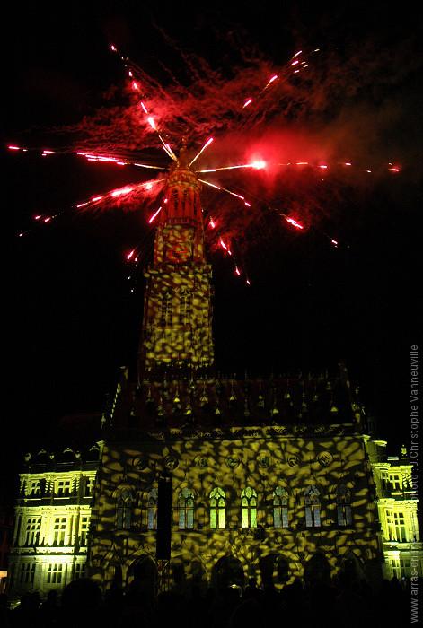 Arras embrasement du beffroi 2011