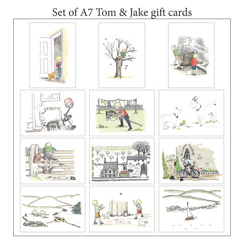 Tom & Jake A7 blank gift cards with envelopes - 12 Pack