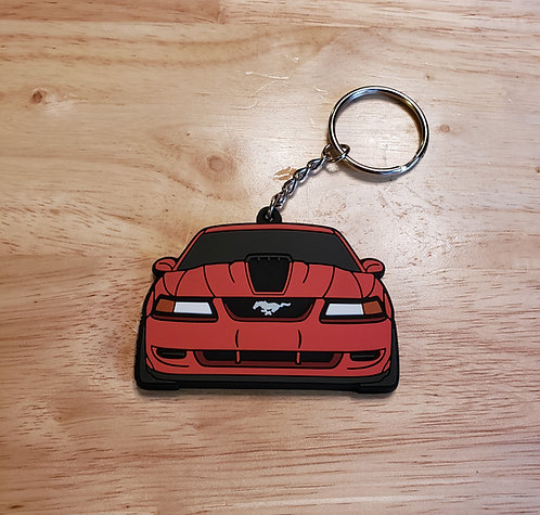 Mach 1 Keychain (torch red)