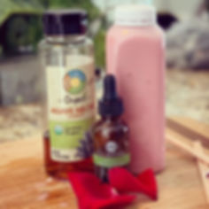 Our pink rose milk is infused with CBD h