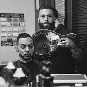 Barber edging hairline