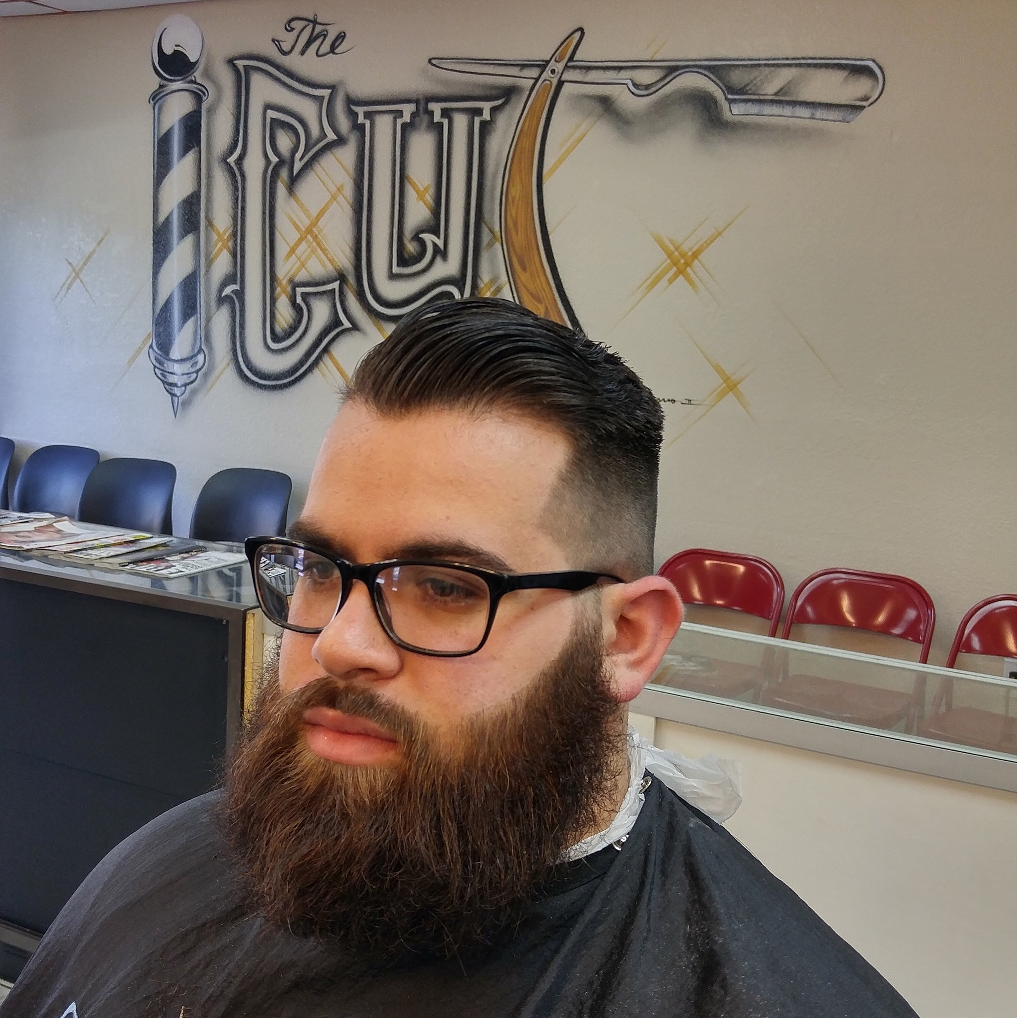 Astounding The Cut Barbershop Tampa Combover With Beard Hairstyles For Women Draintrainus