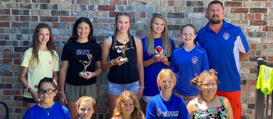 U14 girls season awards