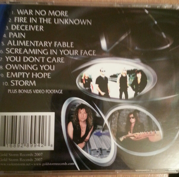 Back Cover Storm  Warning CD