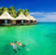 Exotic vacations and over the water bungalows