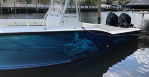 NEW PAINT ON SUZUKI OUTBOARDS FOR RJ BOYLE