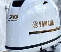 Painted Yamaha outboard motor custom paint job