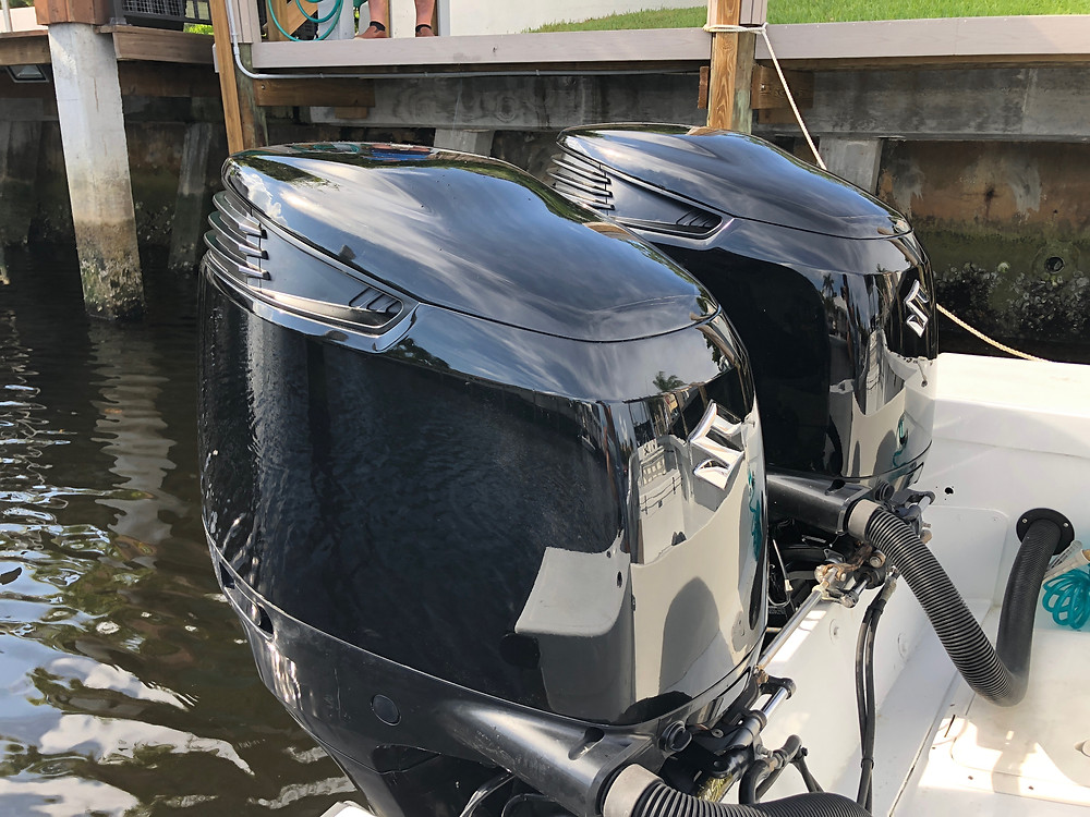 Custom painted outboards in tampa bay.