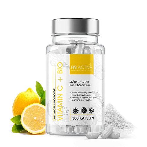 Vitamin-C + Bio Flavonoide  (300g Pulver oder 300 Kapseln)