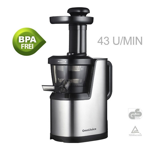 OMNIJUICE PLUS SLOW JUICER SILBER / ROT