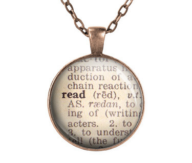 Read dictionary necklace book gifts united states paperheartdaily the read dictionary page necklace is the perfect gift for book lover librarian writer or any book addict pendant size is 25 mm approximately 1 inch aloadofball Choice Image