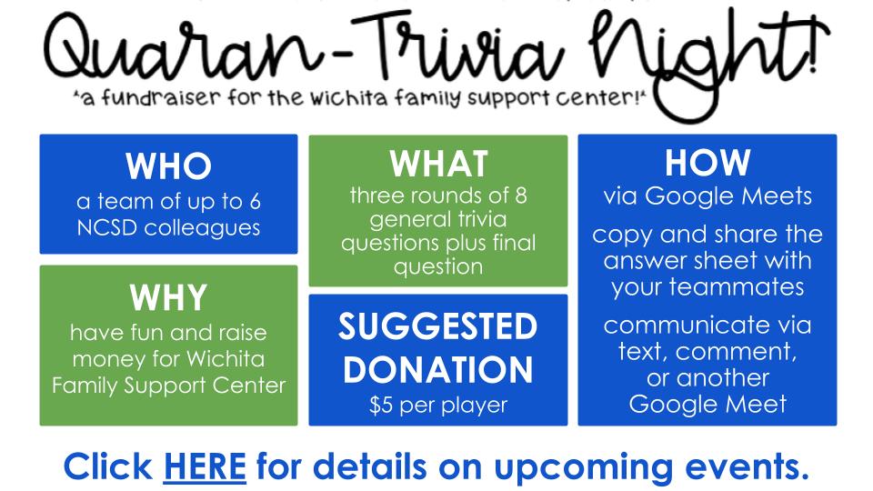 NCSD Quaran-Trivia Event General Informa