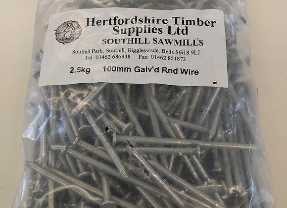 2.5kg Galvanised Round Wire Nails