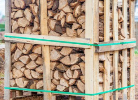 Cubic Meter Crate Kiln Dried Hardwood Logs