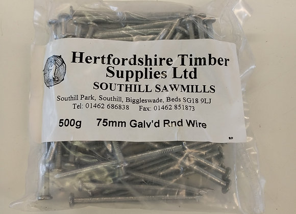 500g Galvanised Round Wire Nails