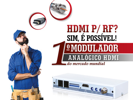 Sinal HDMI para RF?