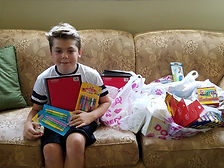 Collecting school supplies for families.