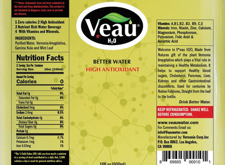 Find Out the Nutrition Value Behind VEAU - the High Antioxidant Drink with Vitamins and Minerals
