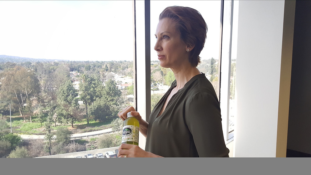 Catherine Christensen from Modern Family & Code Black - Enjoying Veau Water
