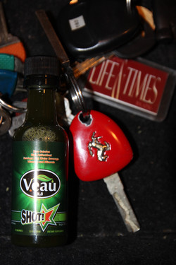 Veau Water Healthy Drink Keychain