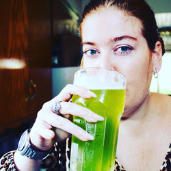 Healthy Lady Drinking Veau Water
