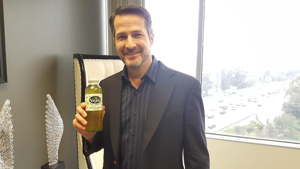 Celebrity Actor Alan Pietruszewski Drinking Veau - New Healthy Juice Drink