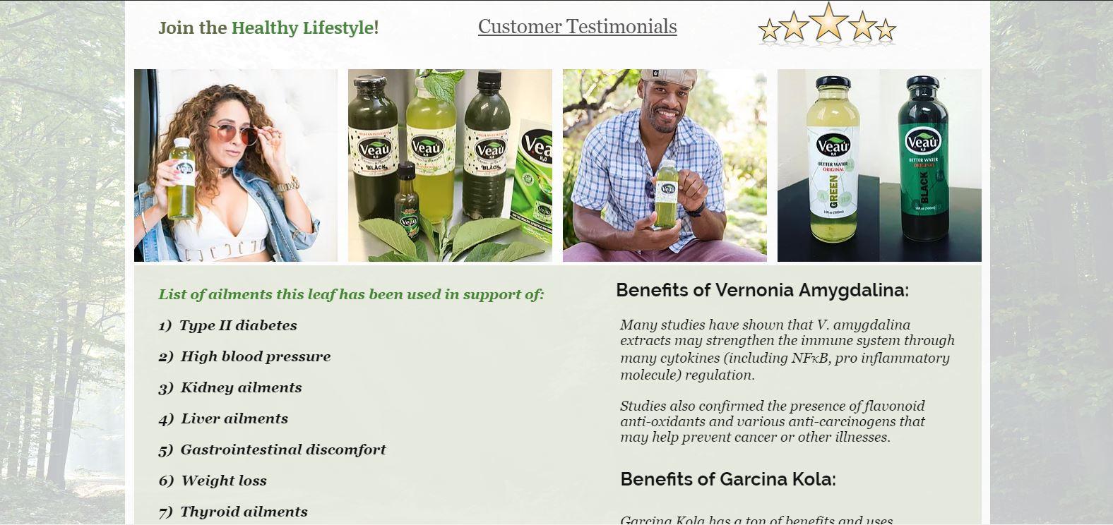 Veau Water - Health Benefits