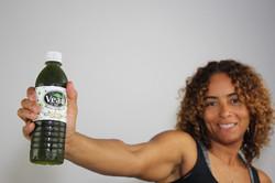 Healthy Woman Drinks Veau Water