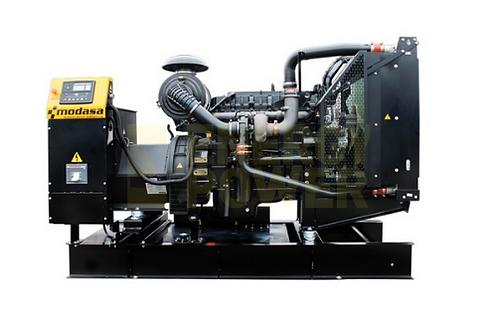 GENERADOR MODASA PERKINS MP-310 SIN CABINA - POTENCIA 316 kW 395 KVA