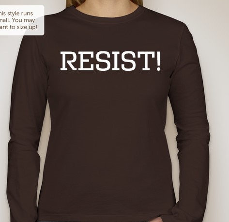 RESIST Long Sleeve Brown (Protest T Shirt)